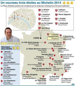 Une carte qui montre l'ancienneté de la gastronomie sur l'axe Paris-Lyon-Méditerranée