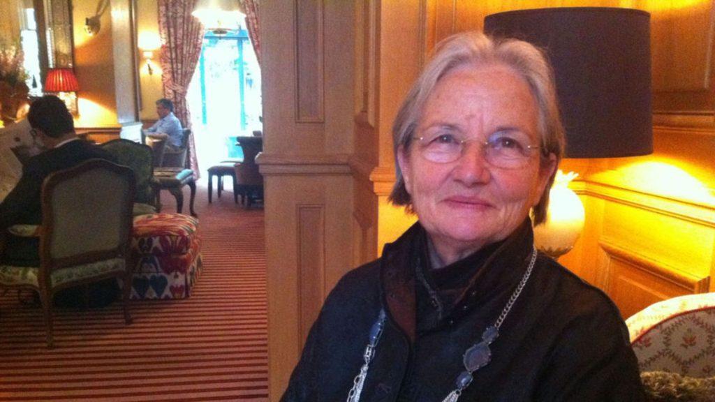 Danièle Mazt-Delpeuch, invitée par Jack Lang à l'Elysée pour une cuisine de terroir auprès de F. Mitterrand